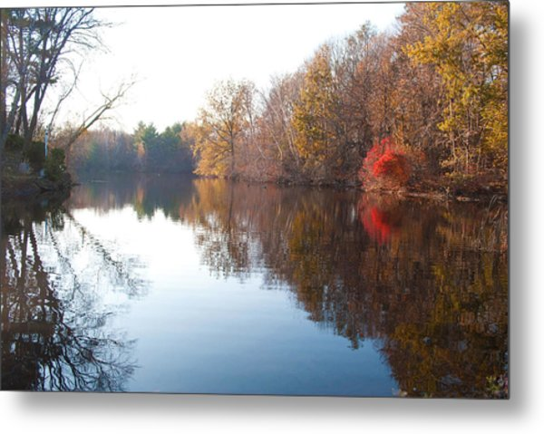 Gingerbread Lake Metal Print by Gretchen Lally