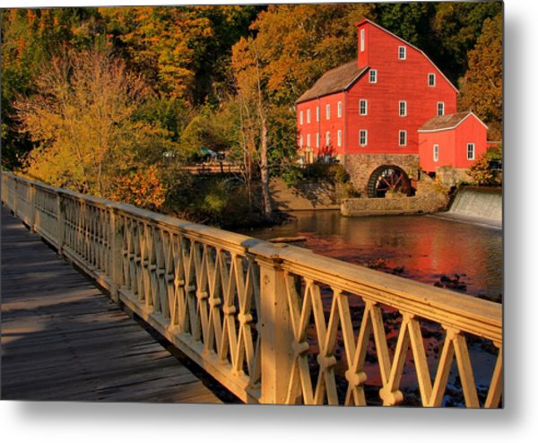 Good Morning Red Mill Metal Print