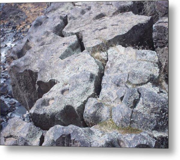 Gorge Edge Metal Print by Angela Stout