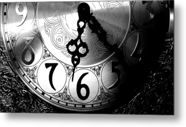 Grandfather Clock Metal Print