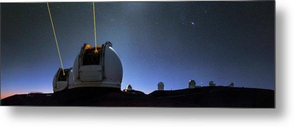 Guide Lasers Over Mauna Kea Observatories Metal Print