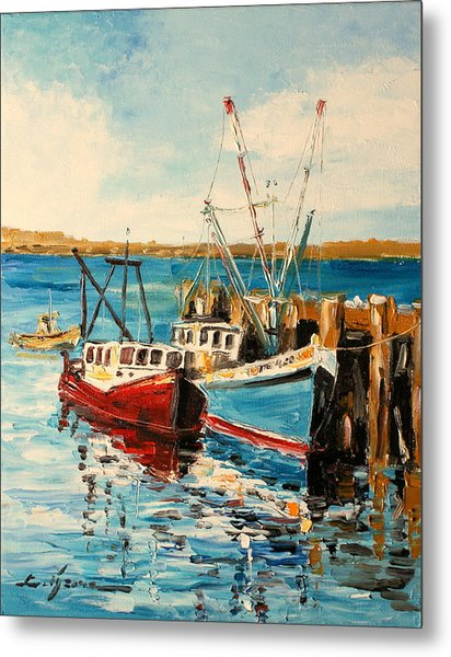 Harbour Impression Metal Print