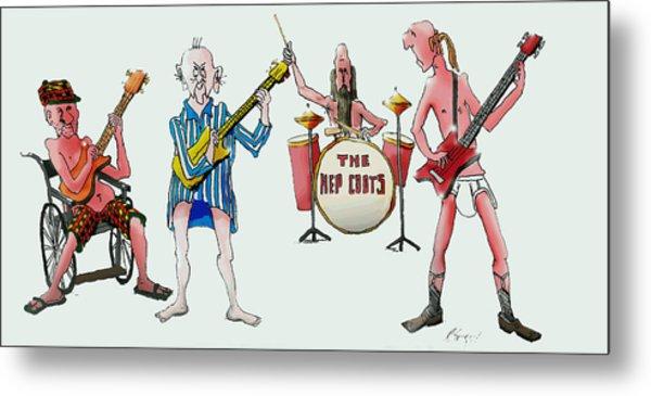 Sixties And Seventies Musicians Metal Print