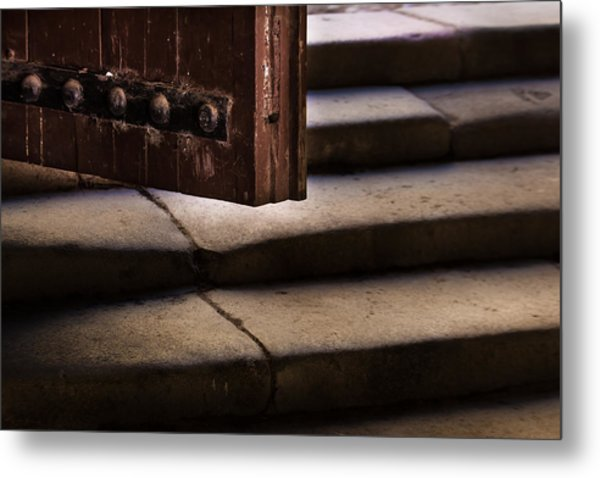 Here It's Cold Metal Print