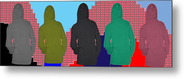 Hoodie Gang Graffiti Fashion Background Designs  And Color Tones N Color Shades Available For Downlo Metal Print