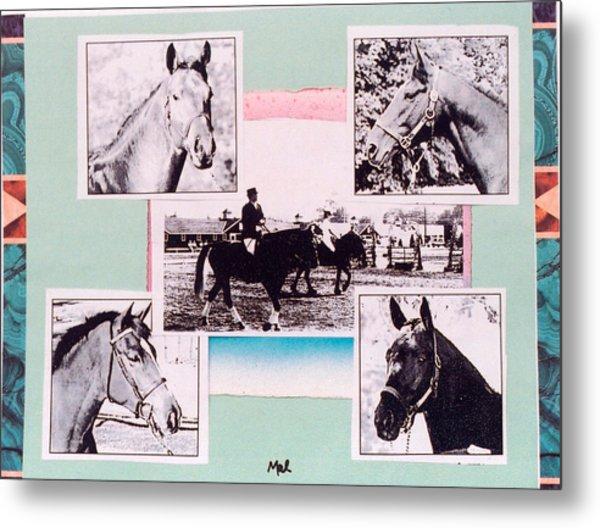 Horse And Rider C Metal Print