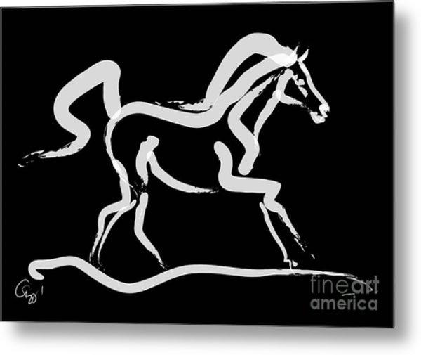 Horse-runner Metal Print