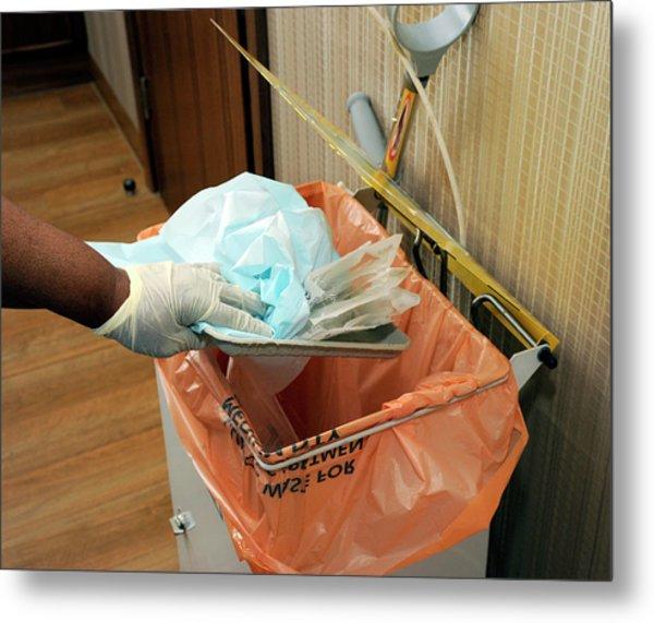 Hospital Waste Disposal Routine Metal Print