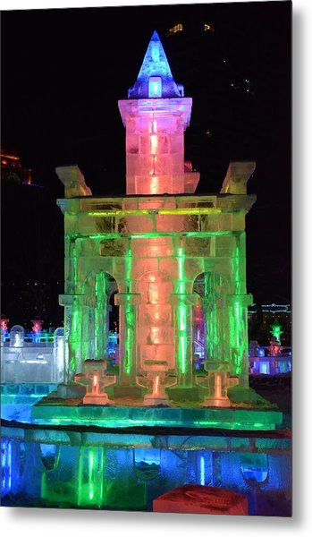 Ice Sculpture Metal Print by Brett Geyer