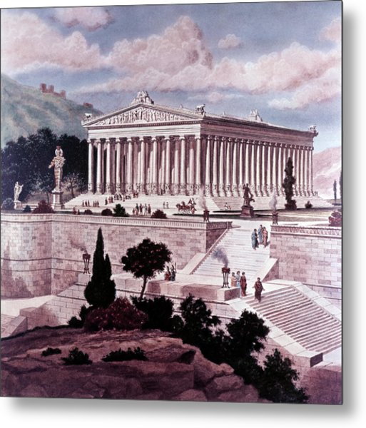 Illustration Seven Wonders Metal Print
