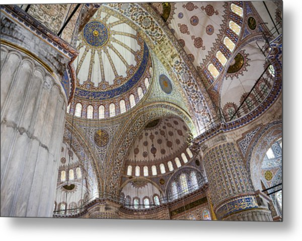 Interior Of Blue Mosque In Istanbul Turkey Metal Print
