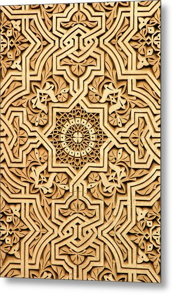 Islamic Plasterwork Metal Print by PIXELS  XPOSED Ralph A Ledergerber Photography