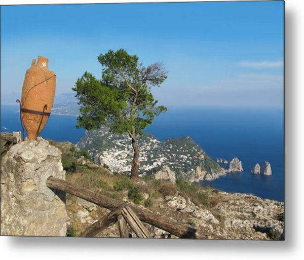 Island Capri View From The Highest Point Monte Solaro Metal Print
