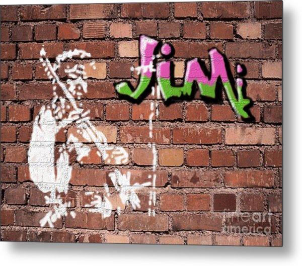 Jimi Graffiti Metal Print