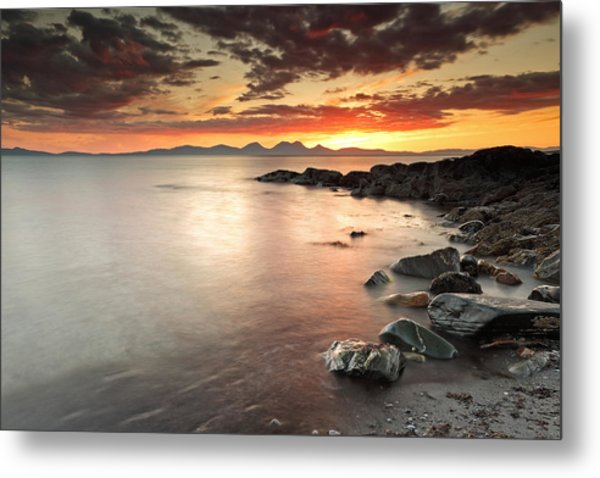 Jura Sunset Metal Print