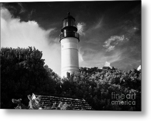 Key West Lighthouse Florida Usa Metal Print by Joe Fox