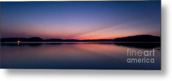 Lake Lanier After Sunset Metal Print