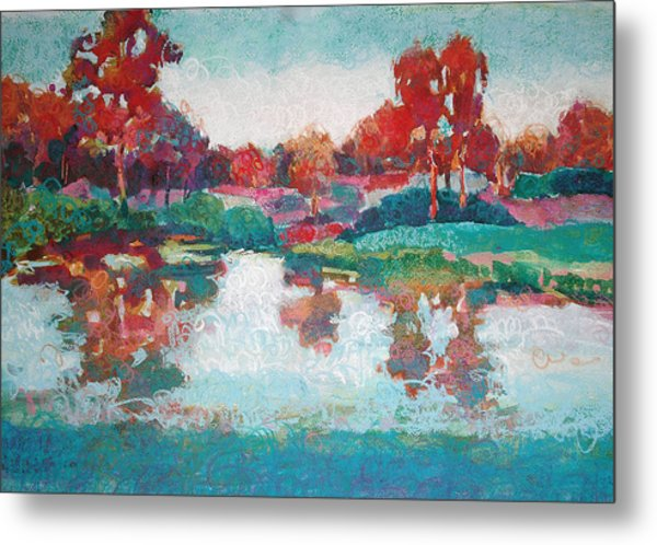 Lakeside Reflections Metal Print