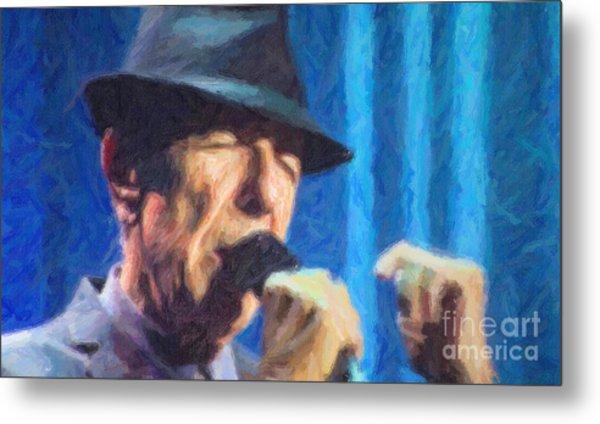 Leonard Cohen In Concert 2013 Metal Print