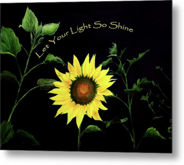 Let Your Light So Shine Metal Print