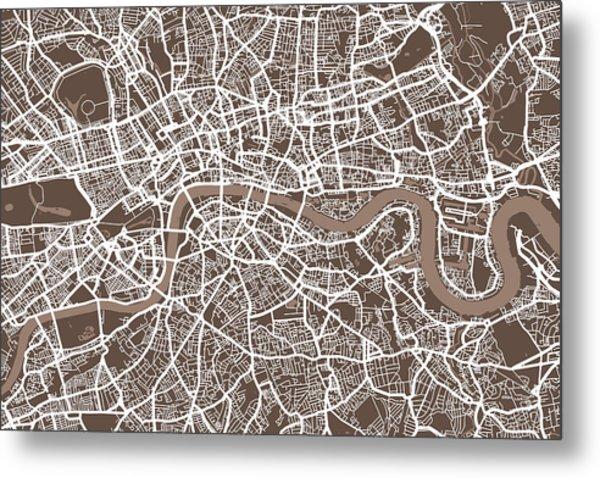 London England Street Map Metal Print