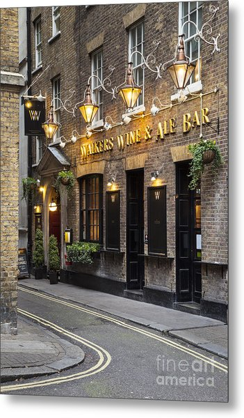 Metal Print featuring the photograph London Pub by Brian Jannsen