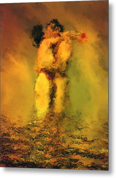 Lovers Metal Print