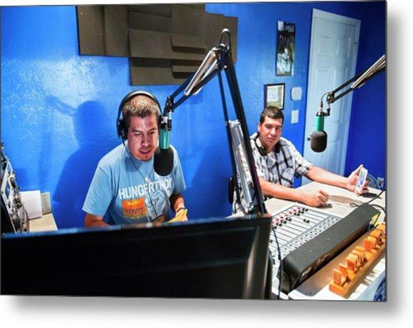 Low Power Community Radio Metal Print