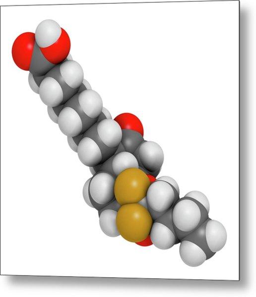 Lubiprostone Chronic Constipation Drug Metal Print by Molekuul
