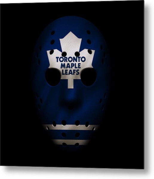 Maple Leafs Jersey Mask Metal Print