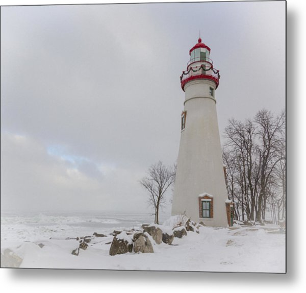 Marblehead Lighthouse Lake Erie Metal Print