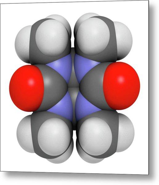 Mebicar Anxiolytic Drug Molecule Metal Print by Molekuul