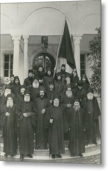 Militant Monks On Mount Athos Metal Print by Retro Images Archive