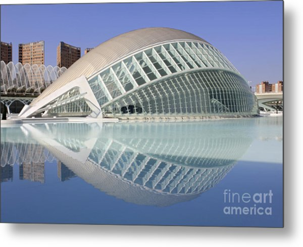 The Hemisferic In Valencia Spain Metal Print