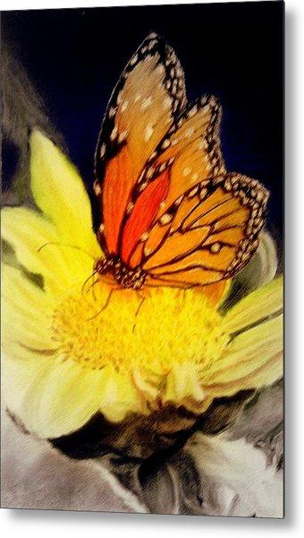Monarch Resting Sold Pastel Metal Print
