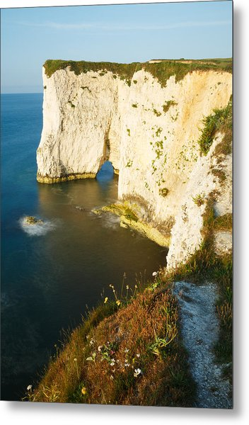 Morning Light At Old Harry Rocks Metal Print