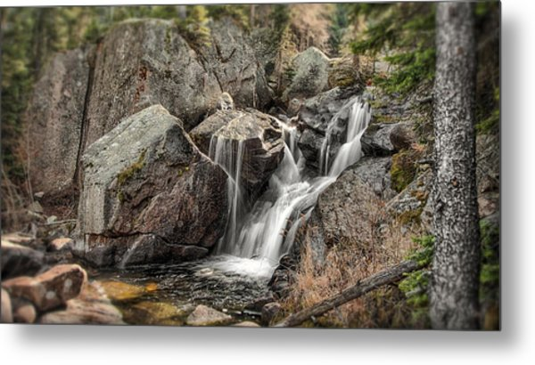 Mountain Waterfall Metal Print