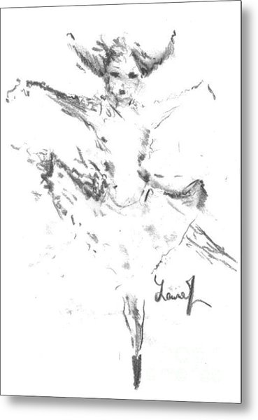 Metal Print featuring the drawing Movement Of Dance by Laurie Lundquist