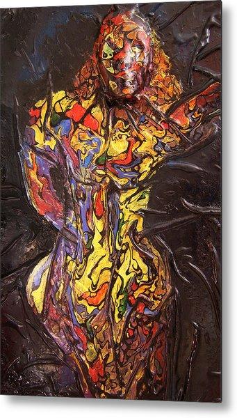 Multicolored Woman Metal Print