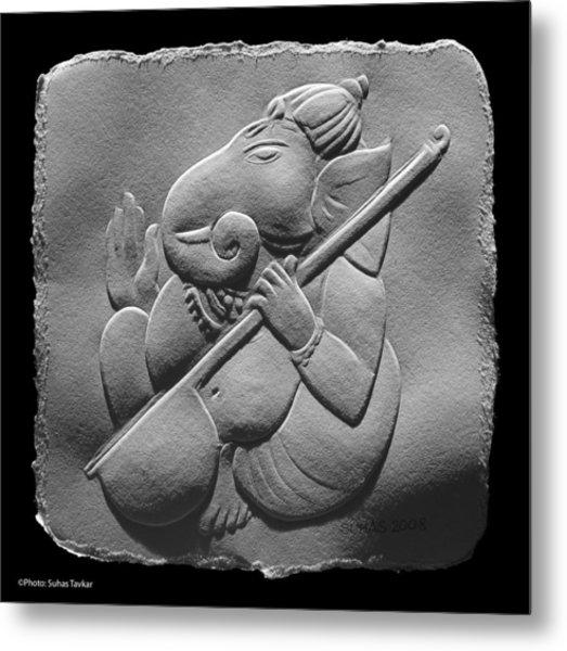 Musical Ganesha Metal Print