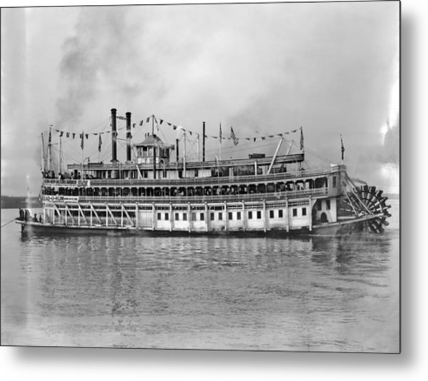 New Orleans Steamboat Metal Print by Granger