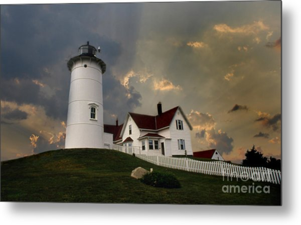 Nobska Lighthouse Color  Metal Print