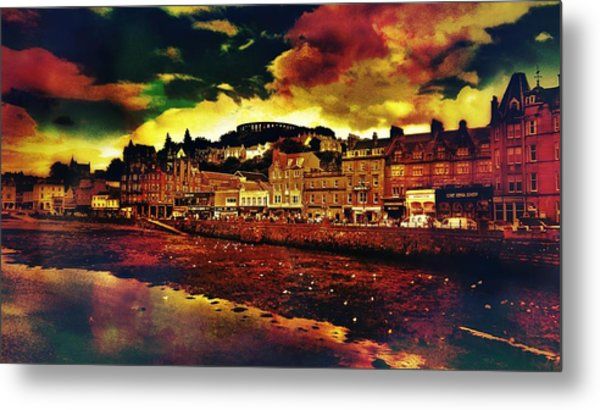 Oban In Scotland Metal Print