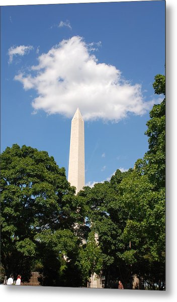 Obelisk Rises Into The Clouds Metal Print