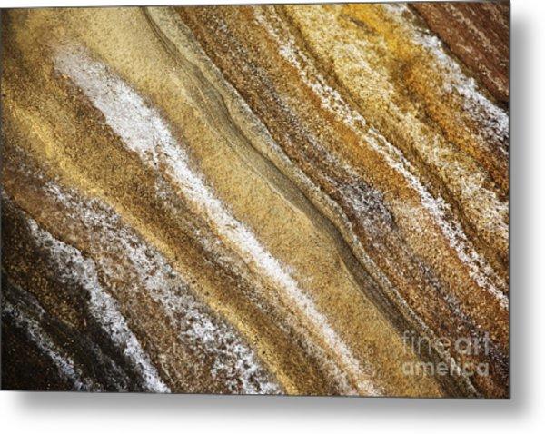Ocean Cliff Textures 3 Metal Print