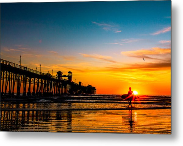 Oceanside Pier At Sunset Metal Print