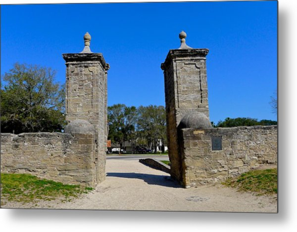 Old City Gates Of St. Augustine Metal Print