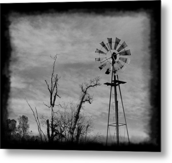 Old West Wind Wheel Metal Print