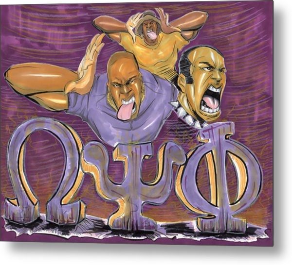 Omega Psi Phi II Metal Print
