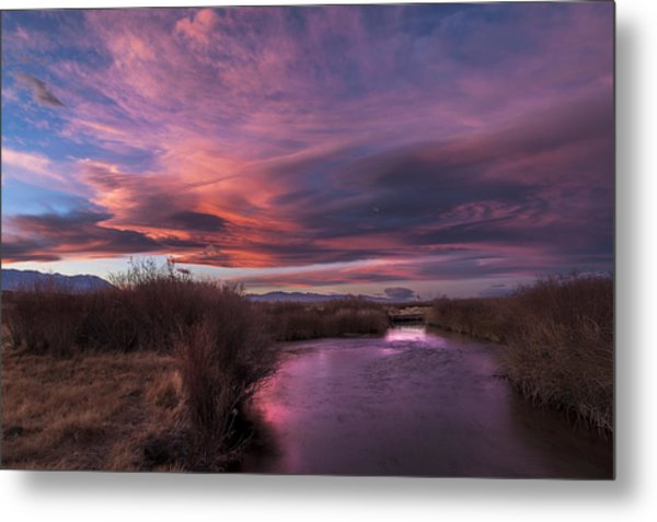 Owens River Sunset Metal Print